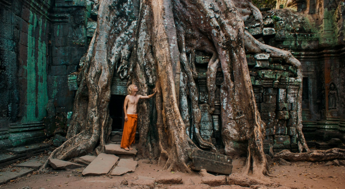 Photo of me in Ta Prohm ruins