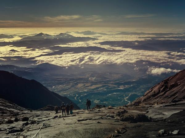 Descending Mount Kinabalu in Malaysian Borneo