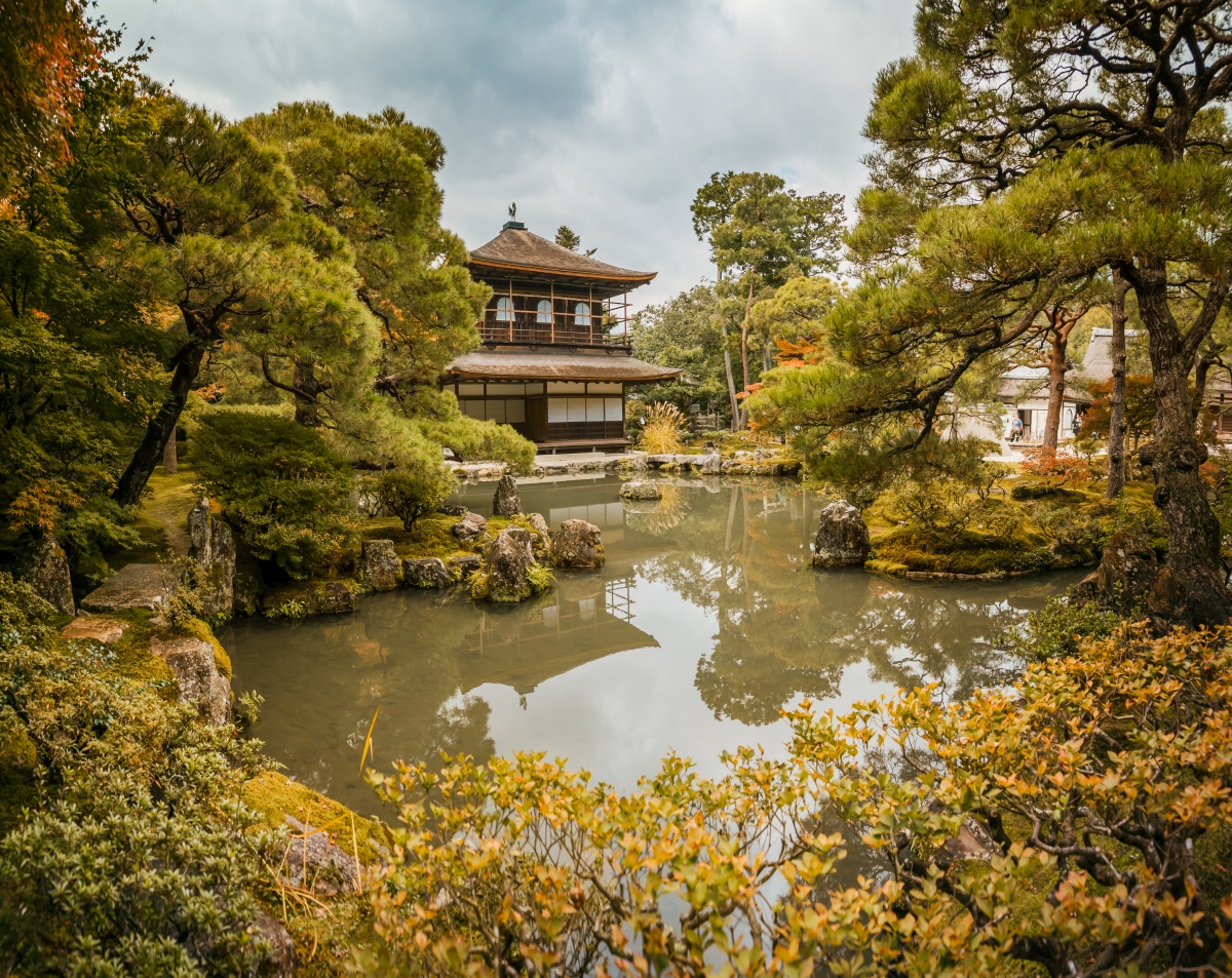 Photo of Ginkaku-ji aka Silver Temple in Kyoto.