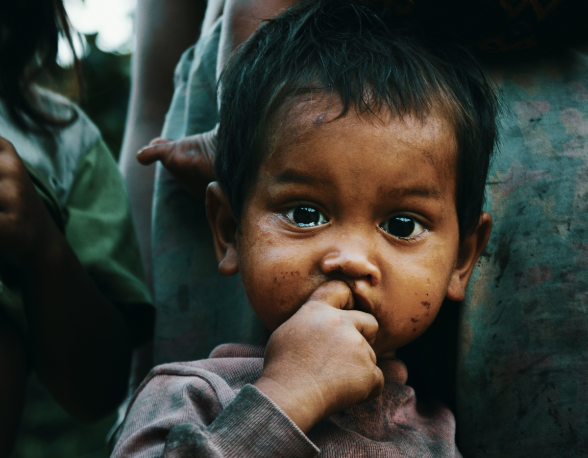 Picture of kids face from Vietnam