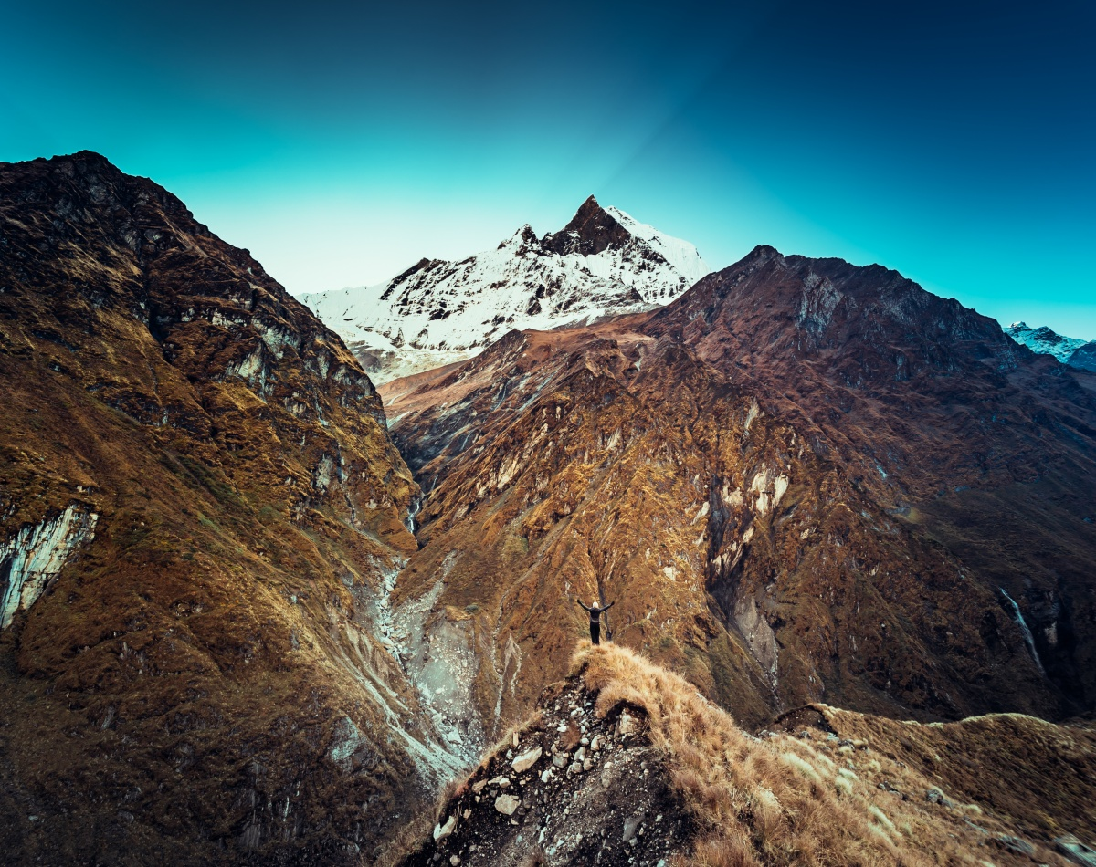 Photo from Maccapuchre Basecamp in Annapurna Conservation Area, Nepal