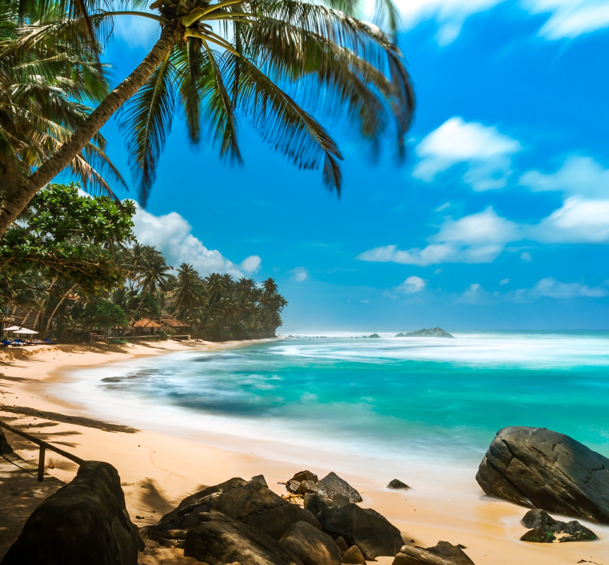 Photo of pictorisque tropical beach paradise