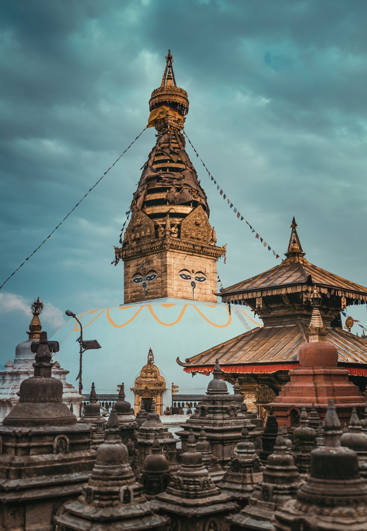 Photo of Swayambhunath, Monkey Temple in Kathmandu Nepal