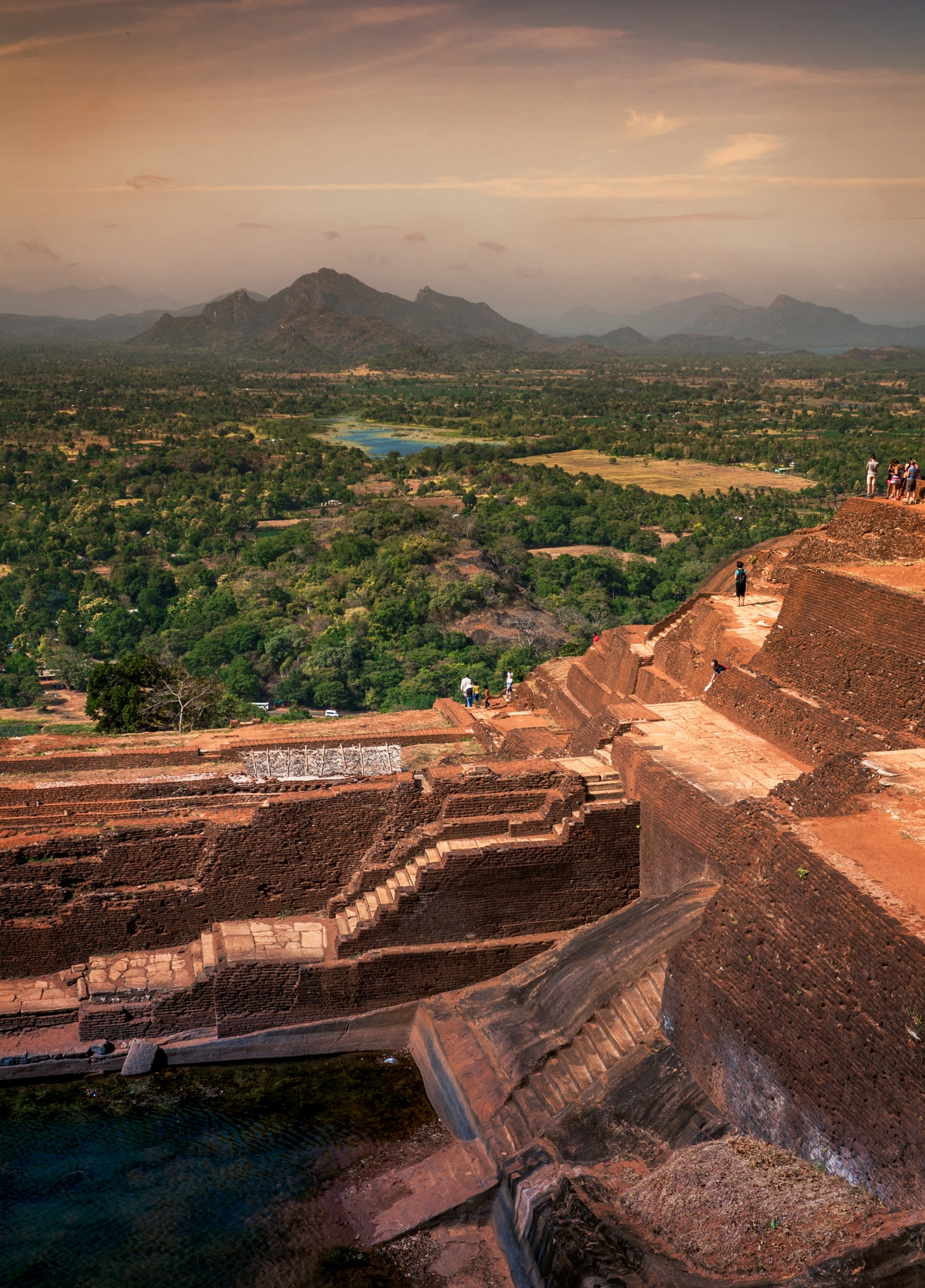 View from the ruins of Sigiriya to valley below